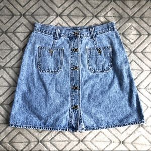 AMERICAN EAGLE Denim Button Front A-Line Skirt